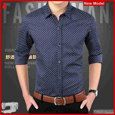 FHGS9188 Model Point Black OT, Katun Kemeja Pria Stretch BMG