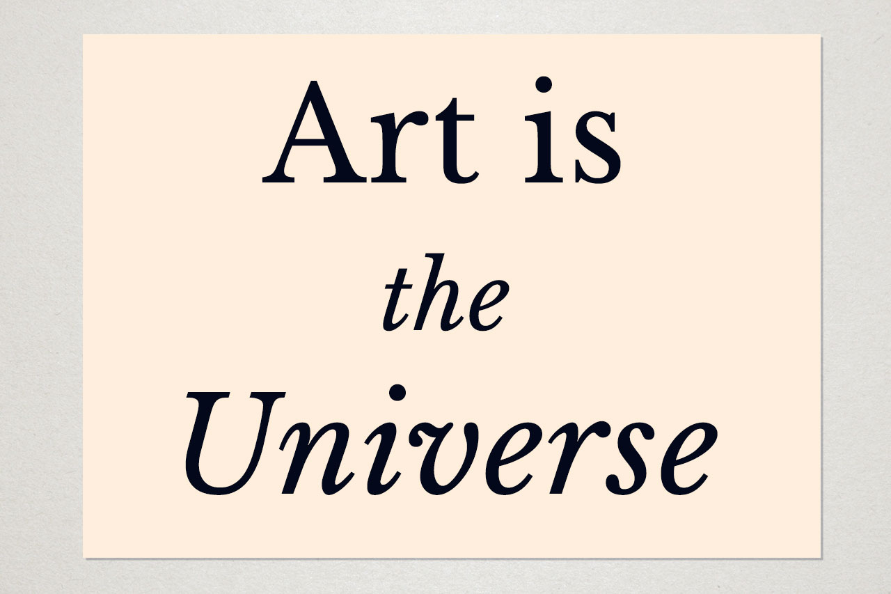 Art is the Universe © Graeme Walker 2020