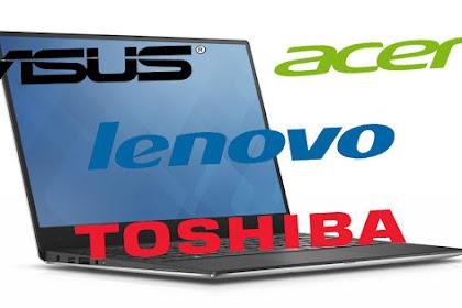 Perbandingan Harga Laptop Asus, Acer, Lenovo dan Toshiba
