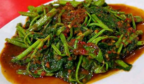 Resepi untuk sautéed Kangkung