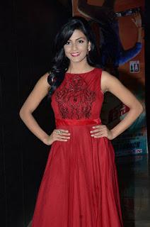 Actress Anisha Ambrose Latest Stills in Red Long Dress at Run Movie Audio Launch  0011.jpg