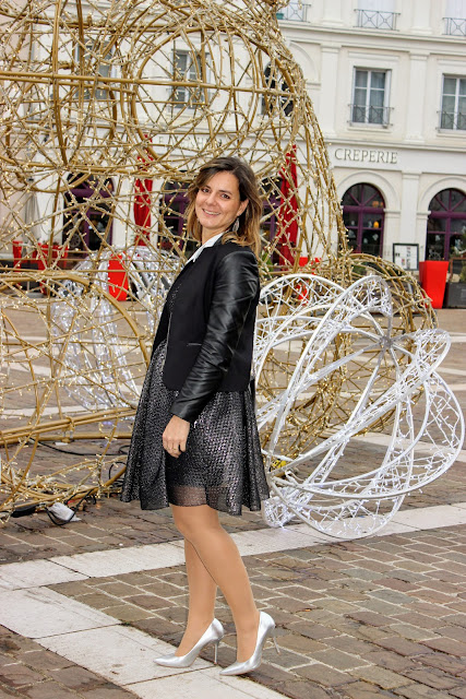 robe de soirée Maje, look du jour, les petites bulles de ma vie