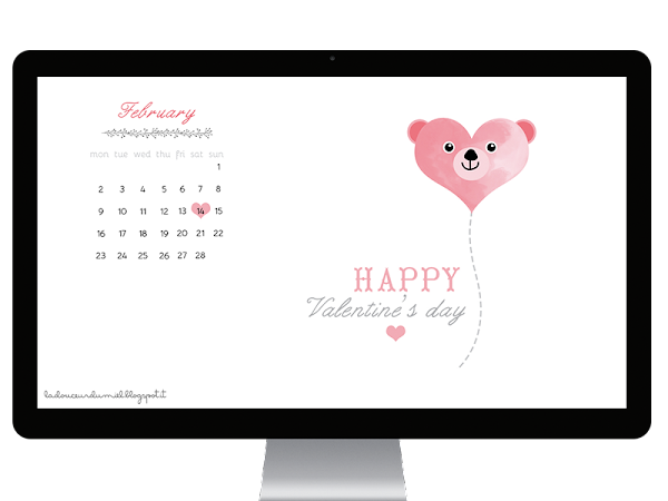 Spread the love! *New February desktop wallpaper*