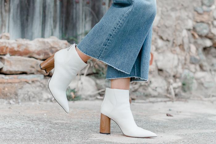 Botines blancos Zara