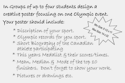 Celebrating the Olympics Poster Assignment!