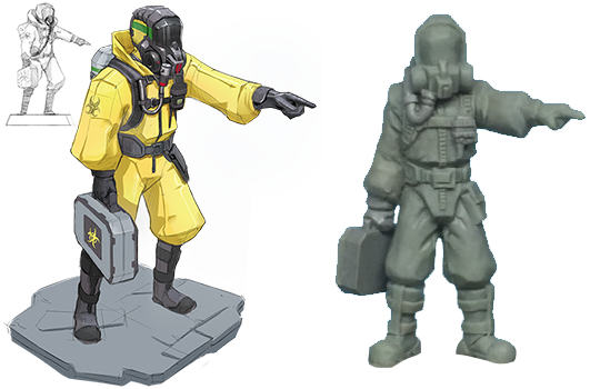 Not-So-Bored Games: Pandemic Viral Outbreak - Plastic Science Fiction Miniatures Kickstarter