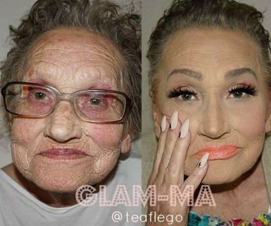 What does a 80 year old woman look like