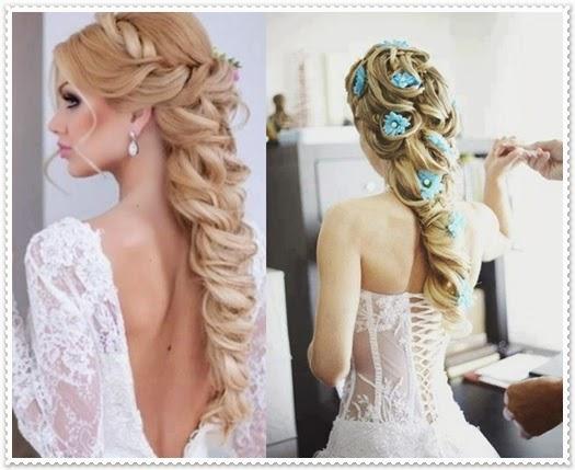 Brautfrisur lange haare 2015