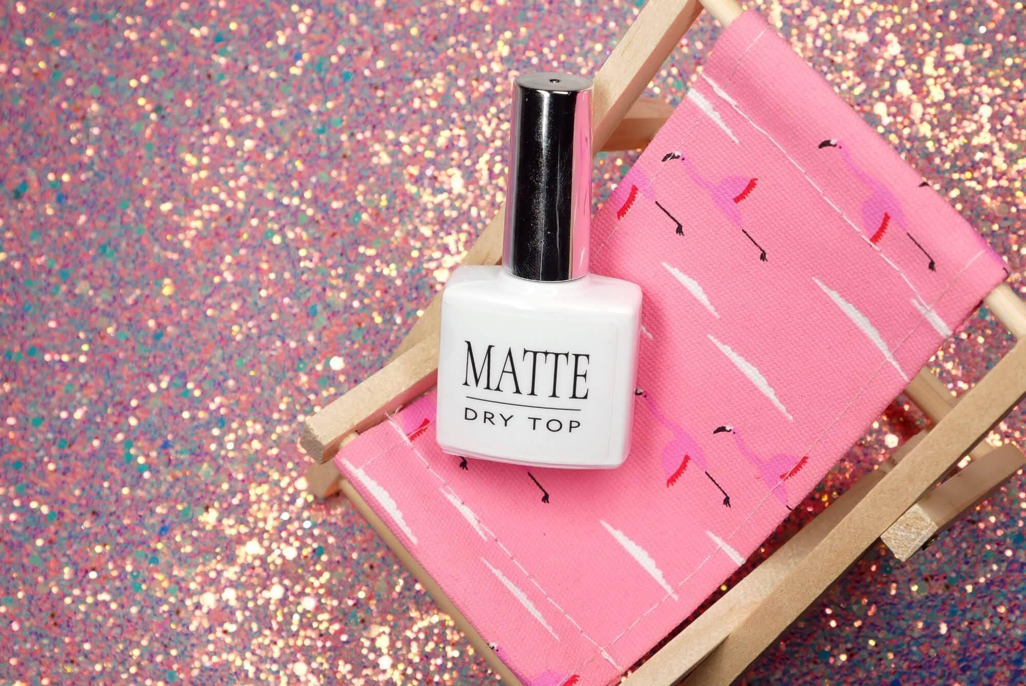 matte dry top folly nail