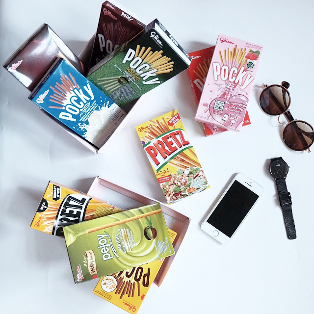 pocky snack biskuit stick tanpa remah