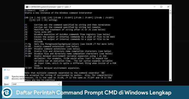 Daftar Perintah Command Prompt CMD di Windows Lengkap