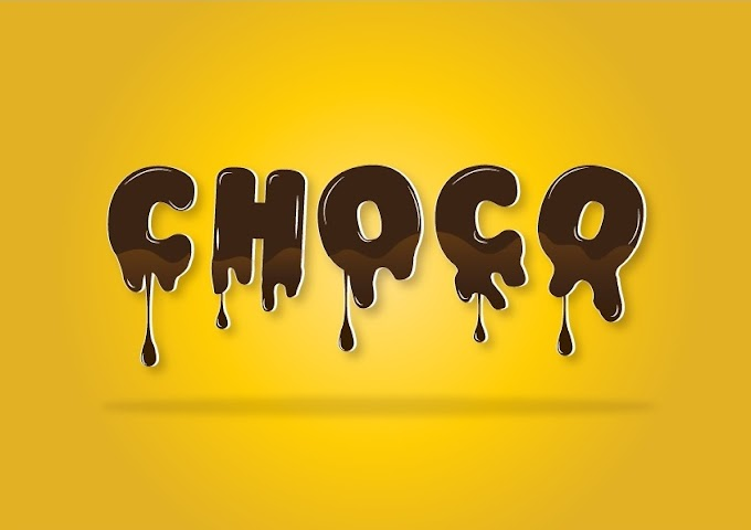 Melted Chocolate Text Effect in illustrator