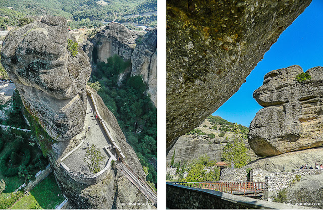 acesso ao Mosteiro de Varlaam, em Meteora, Grécia