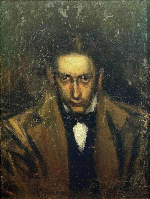 Carles Casagemas, Self Portrait, Portraits of Painters, Fine arts, Portraits of painters blog, Paintings of Carles Casagemas, Painter Carles Casagemas