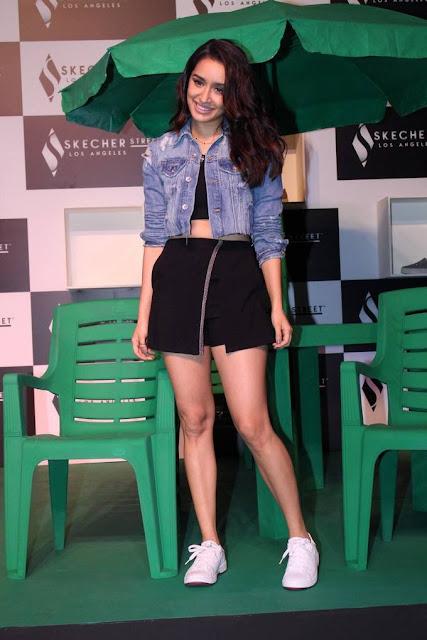 Shraddha Kapoor Stills At Skechers Street Party Launch