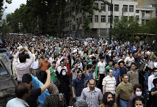 Moussavi supporters march for fair elections in 2009