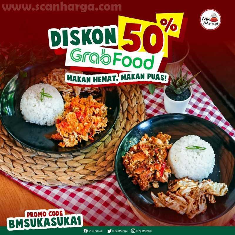 Harga Promo Mie Merapi Promo Diskon 50 Untuk Pemesanan Melalui Grabfood Scanharga