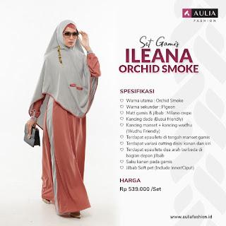 Koleksi Gamis Syari Muslimah Ileana Orchid Smoke Series Set Syari by AULIA Fashion