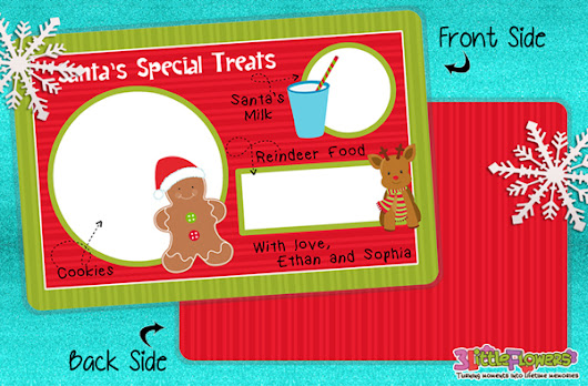 Personalized Santa Cookie and Milk Placemat ~ 3 Little Flowers - The Blog