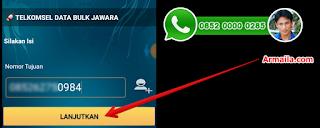 Cara Daftar dan Isi Paket 17GB Telkomsel Masukkan nomor pelanggan.png
