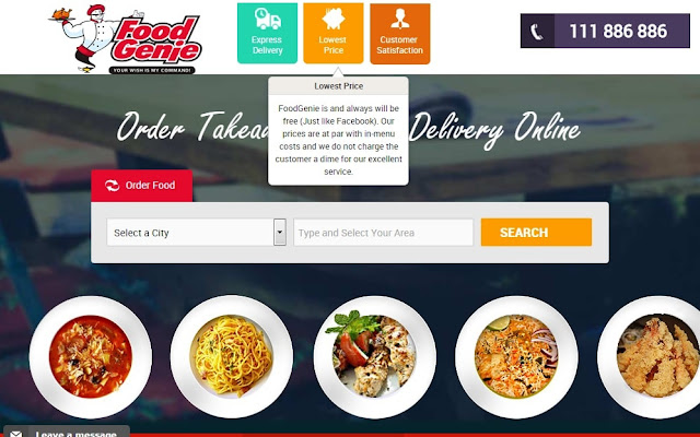order food online from home in pakistan at foodgenie.pk
