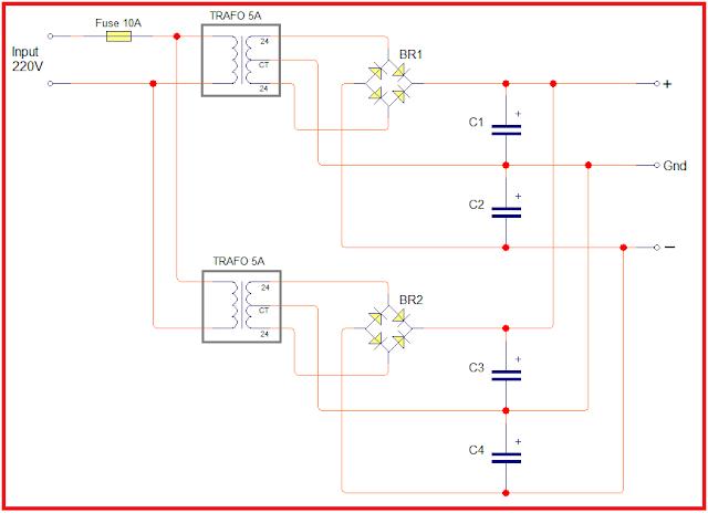 skema parallel trafo untuk menambah arus ampere