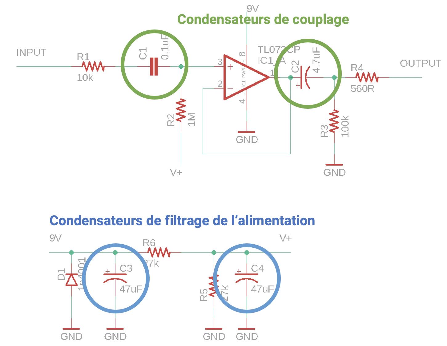 Klon buffer condensateurs