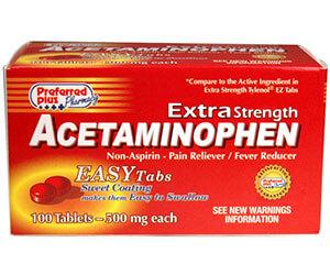 سعر ودواعي استعمال أقماع اسيتامينوفين Acetaminophen مسكن للآلام