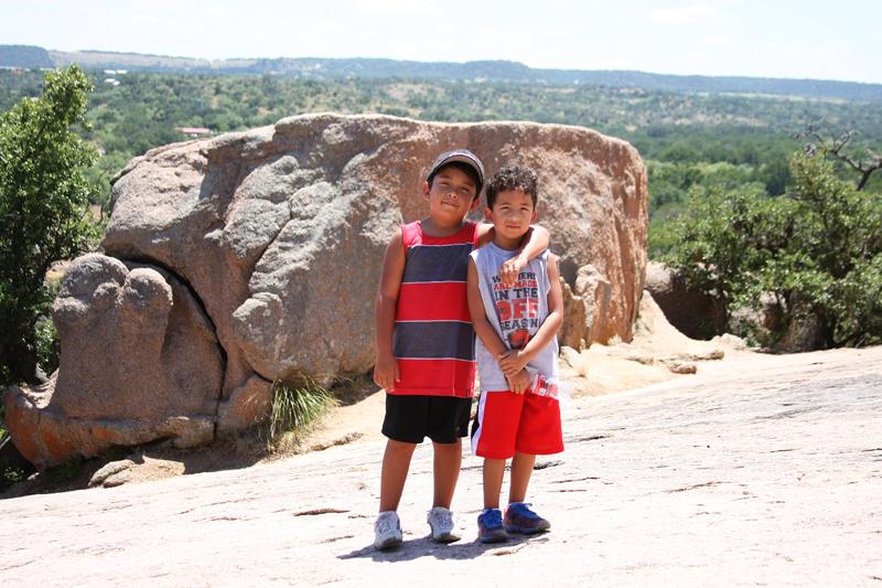 Boys on Enchanted Rock