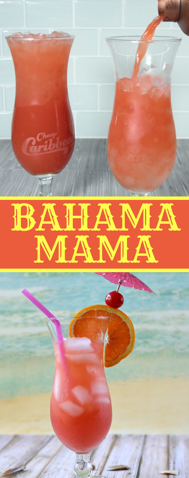 Bahama Mama Cocktail #drink #mocktail
