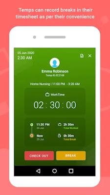 Screenshot Zoho Workerly Kiosk - Apcoid