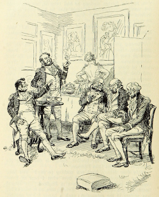 A circle of admirals   Mansfield Park by Jane Austen (1814) Illustration by Hugh Thomson (1897)