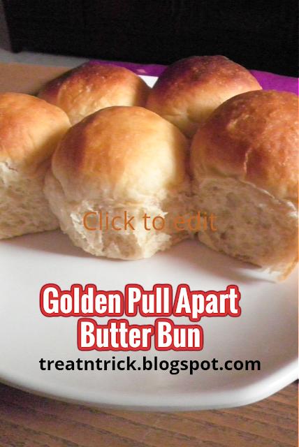 Golden Pull Apart Butter Bun Recipe @ http://treatntrick.blogspot.com