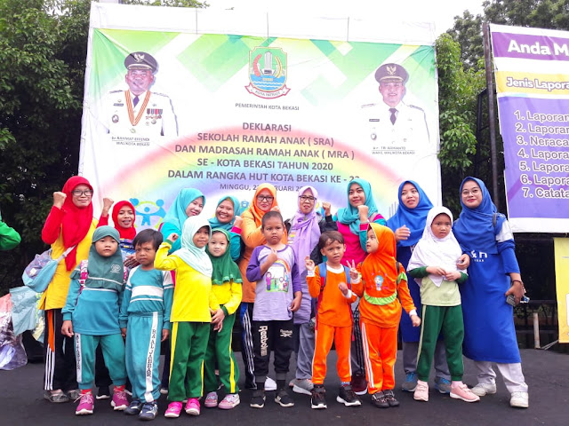 HUT Kota Bekasi Ke-23, Pemkot Bekasi Deklarasi 428 Sekolah Ramah Anak