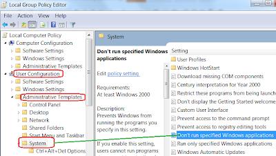 Restrict User to Run Specific Program
