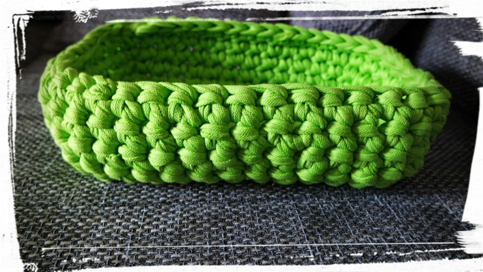 Auf Wolle 7 Obstkorb Aus Textilgarn