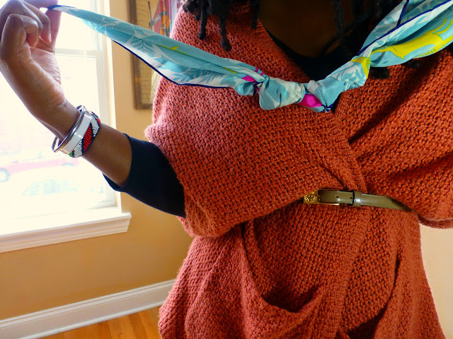 vintage scarf necklace diy