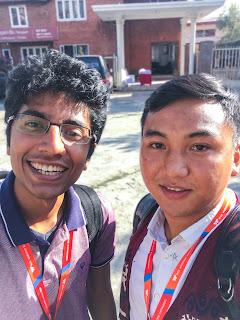 With Gaurav Sen at Tech Event in Kathmandu