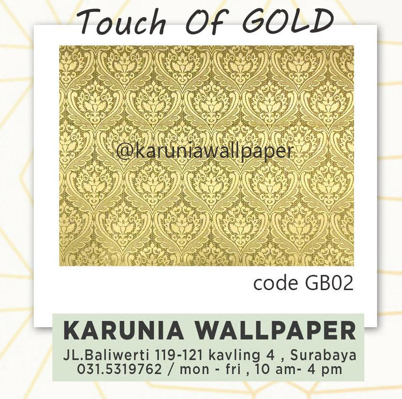 jual wallpaper dekor dinding emas