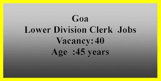 Lower Division Clerk  Jobs in Goa