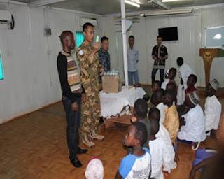 Tim Kesehatan Konga XX-M Laksanakan Penyuluhan Personal Hygiene