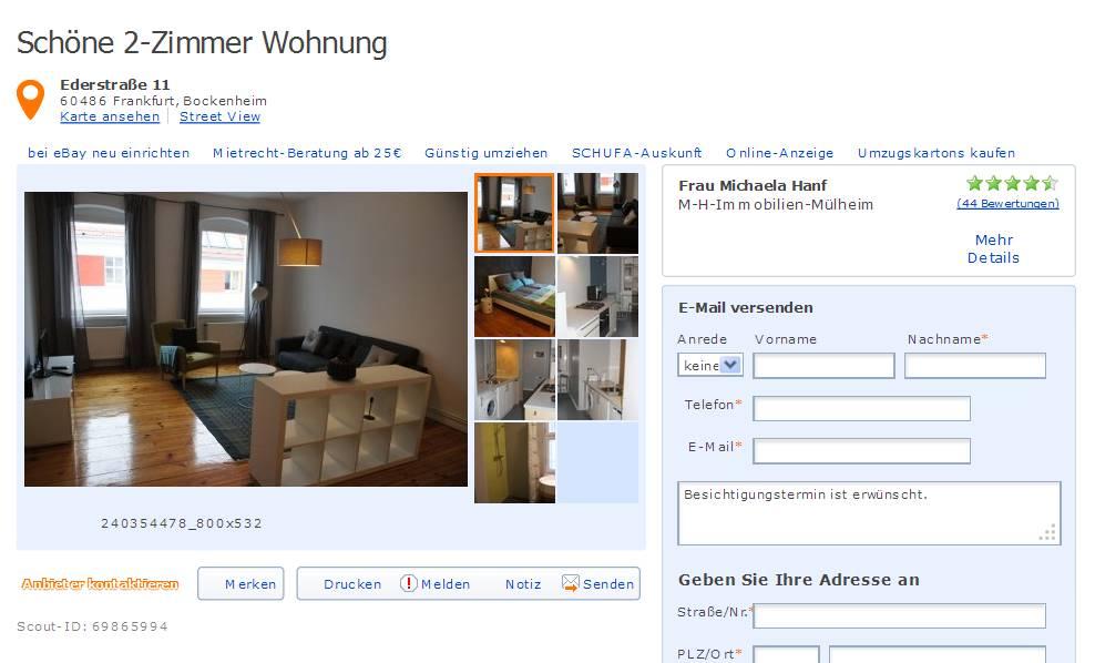 claysonydo178 bei immobilienscout im gehackten. Black Bedroom Furniture Sets. Home Design Ideas
