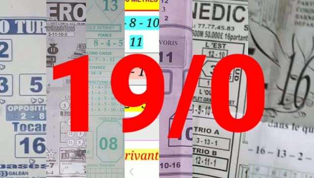 Pronostics quinté pmu jeudi Paris-Turf-100 % 19/08/2021