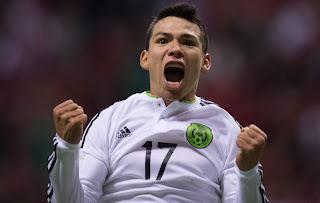 Jesus Lozano celebra su gol frente a Canada, México, Morelia