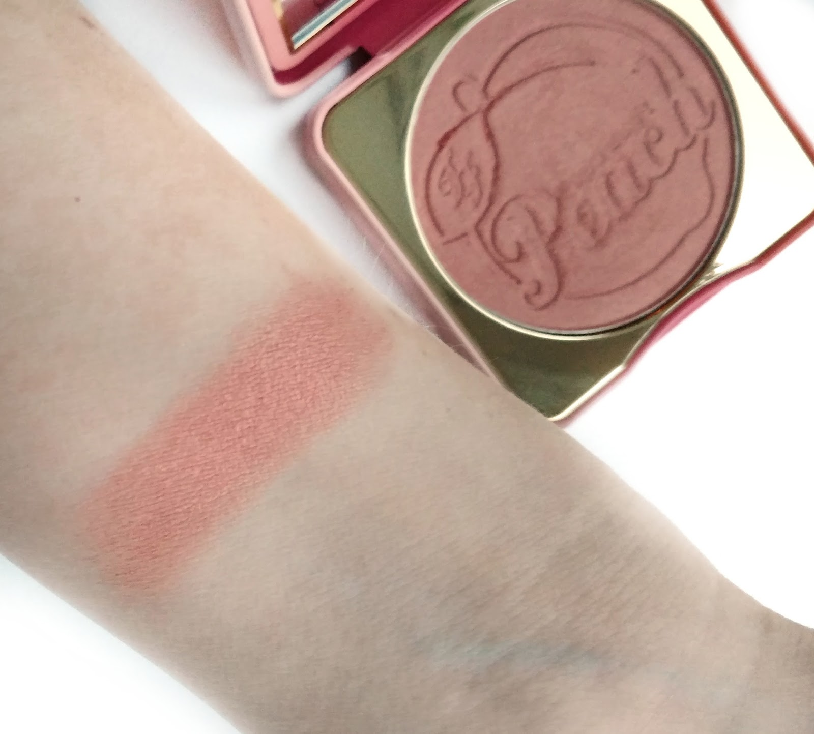 too faced papa don't peach blush swatches