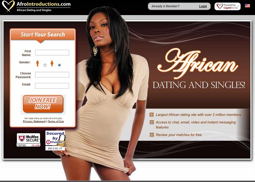 Africanloving - online dating for African singles at