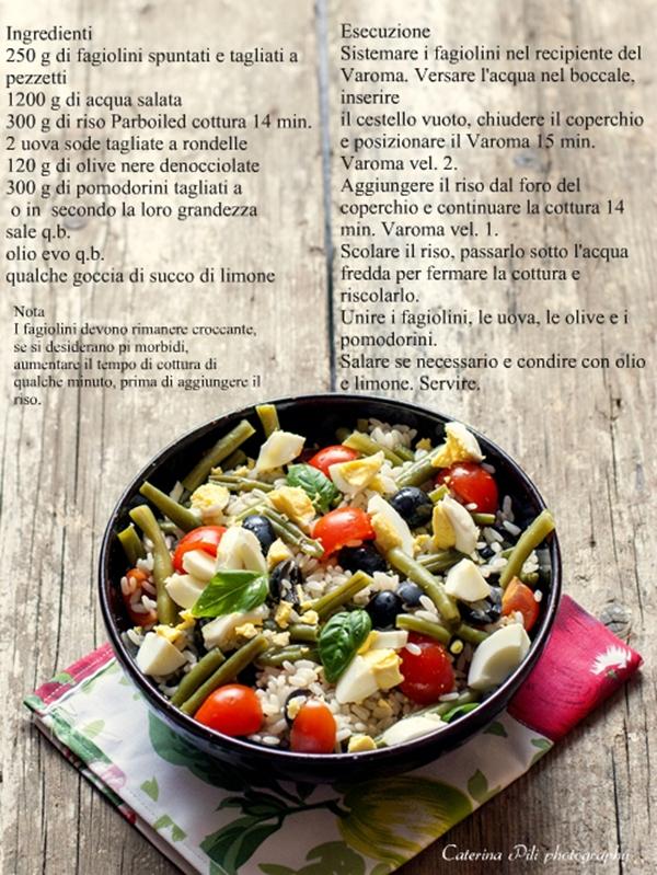 Insalata di riso uova e fagiolini,ricetta Bimby
