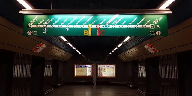 Línea A Verde metro praga