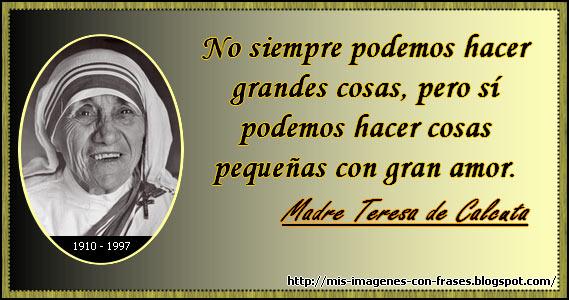 Madre Teresa De Calcuta Actuar Amor Mis Imagenes Con Frases