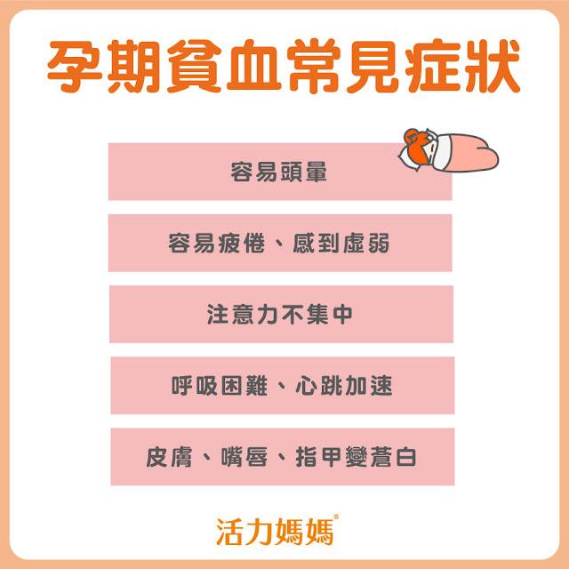 懷孕貧血常見症狀